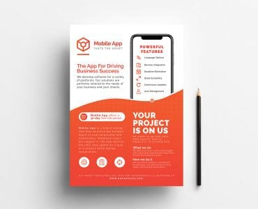 Mobile App Poster/Flyer/Advertisement Template