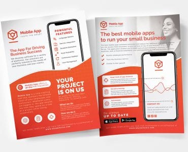 Mobile App Poster/Flyer/Advertisement Templates