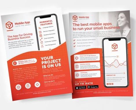 Mobile App Poster/Flyer/Advertisement Templates