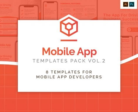 Mobile App Templates Pack vol.2