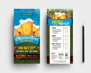 Oktoberfest DL Card Templates