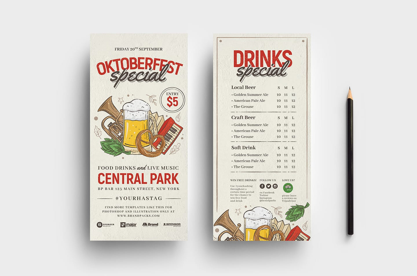 Oktoberfest DL Menu Template