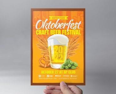 Oktoberfest Flyer Template (front)