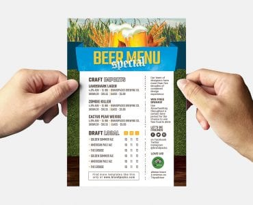Oktoberfest Menu Flyer Template