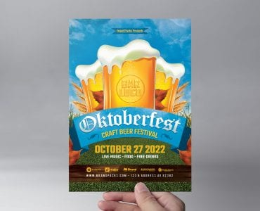 Oktoberfest Menu Flyer Template (front)