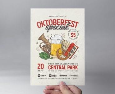 Oktoberfest Menu Flyer Template (front)