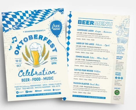 Oktoberfest Menu Flyer Templates