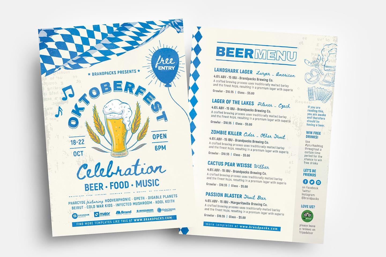 Oktoberfest Menu Flyer Templates