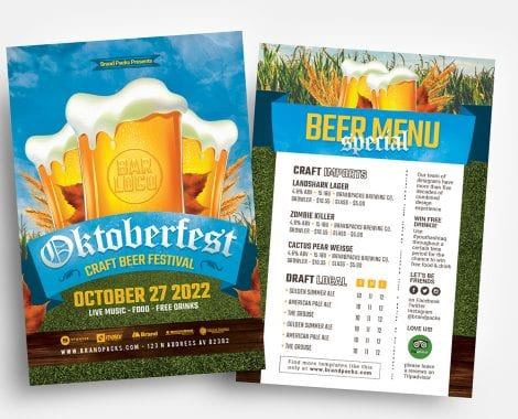 Oktoberfest Menu/Flyer Templates