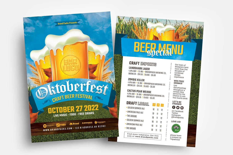 Oktoberfest Menu/Flyer Templates