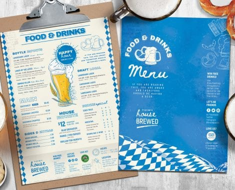 Oktoberfest Menu Templates in PSD & Vector