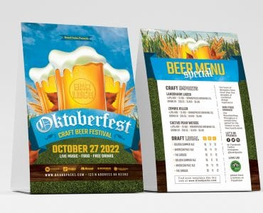 Oktoberfest Table Tent Templates