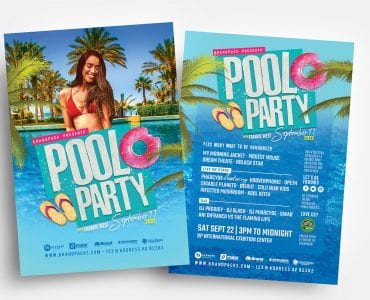 Pool Party Flyer Templates