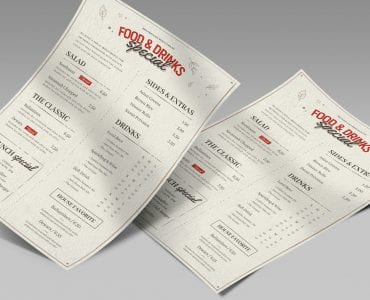 Pub Menu Template