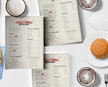 Pub Menu Template in PSD & Vector
