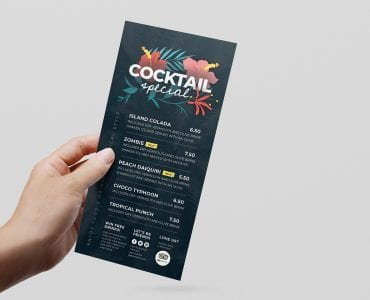 Tropical DL Flyer Template