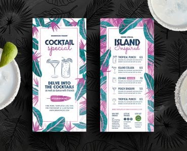 Tropical DL Menu Template