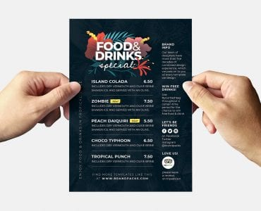 Tropical Flyer Template (Back)