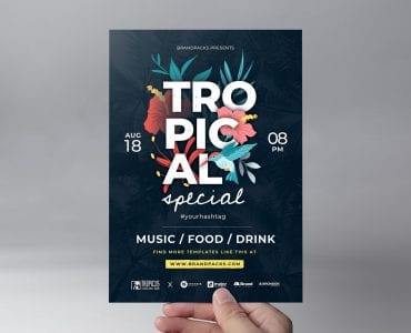 Tropical Flyer Template (Front)