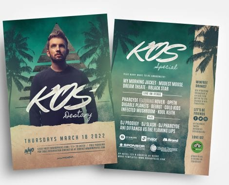 DJ Flyer Templates in PSD & Vector