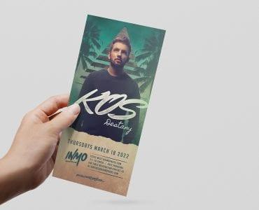 DJ Flyer Templates (DL Rack Card)