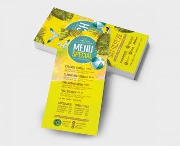 Beach Club DL Card Template (Back)
