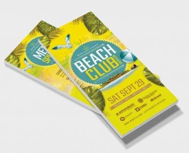 Beach Club DL Card Template (Front)