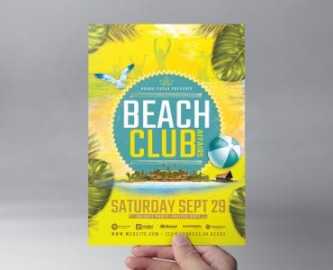 Beach Club Flyer Template (Front)