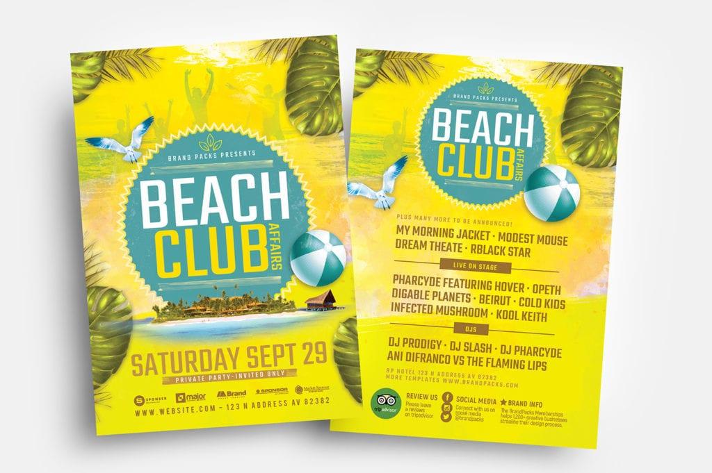 Beach Club Flyer Templates