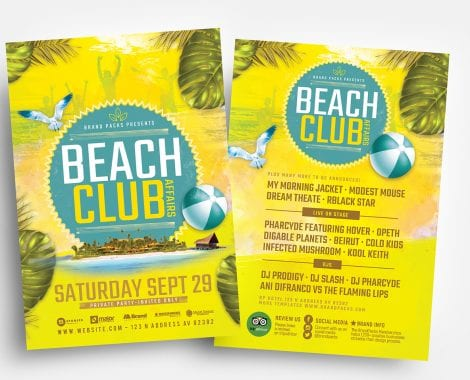 Beach Club Flyer Templates