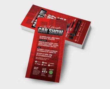 Car Club DL Card Template (Back)