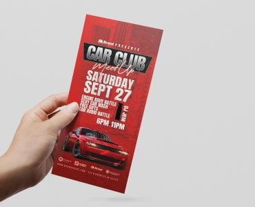 Car Club DL Card Template (Front)