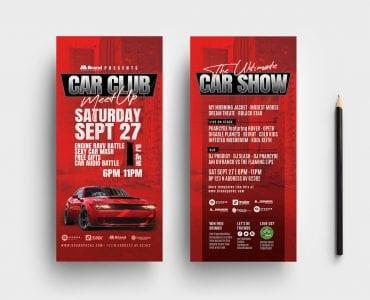 Car Club DL Card Templates