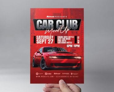 Car Club Flyer Template