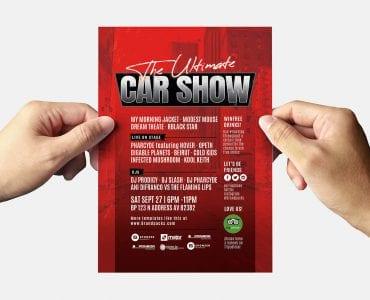 Car Club Flyer Template (Back)
