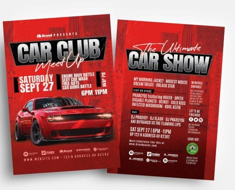 Car Club Flyer Templates