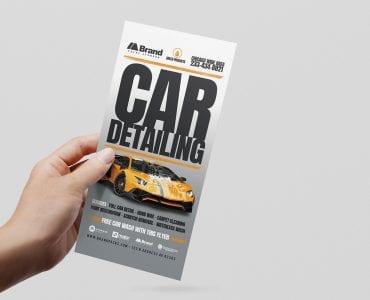 Car Detailing DL Card Template (Front)