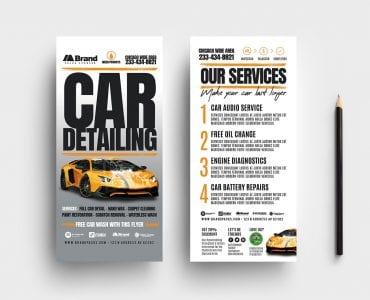 Car Detailing DL Card Templates