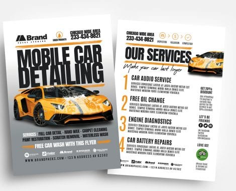 Car Detailing Flyer Templates