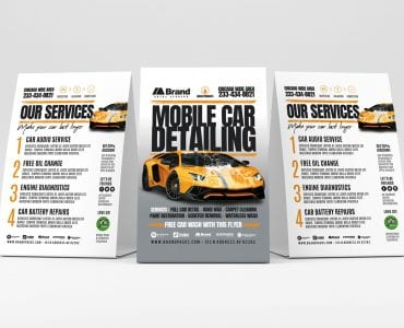 Car Detailing Table Tent Templates