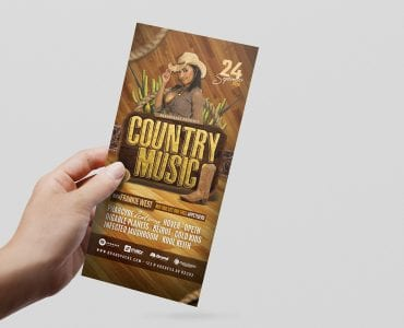 Country Music DL Card Template