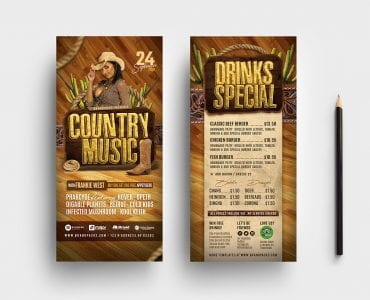 Country Music DL Card Templates