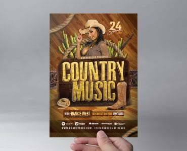 Country Music Flyer Template (Front)
