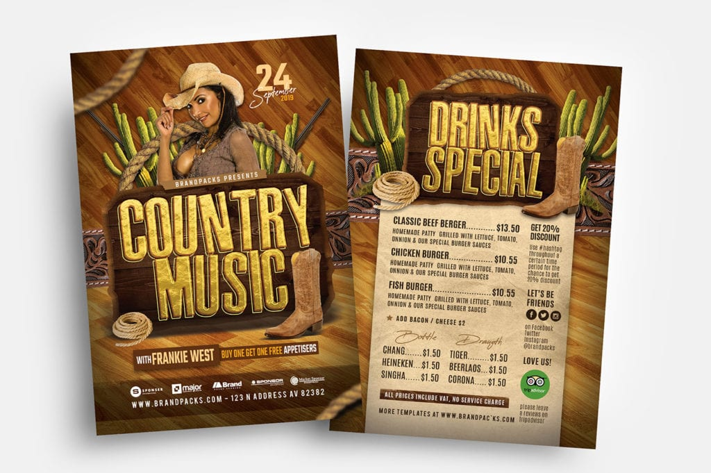Country Music Flyer Templates