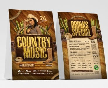 Country Music Table Tent Templates