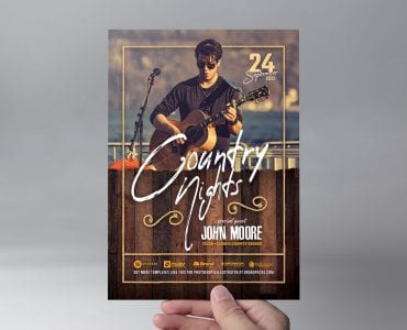 Country & Western Flyer Template (Front)