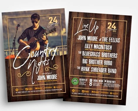 Country & Western Flyer Templates