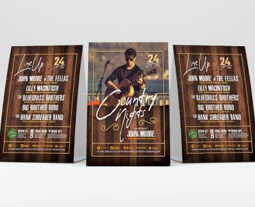 Country & Western Table Tent Templates