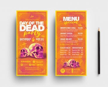 Day of The Dead DL Flyer Templates
