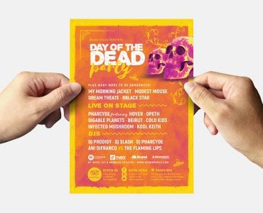 Day of The Dead Flyer Template (Back)